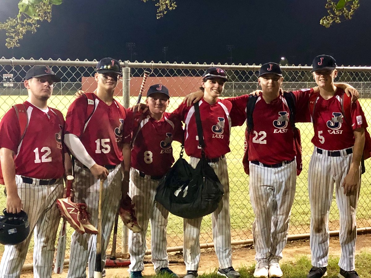 Congrats to Joe Soileau, Logan Bertucci, Ryan Robichaux, Bradley Pelle, Cole Bordes, Ethan Klapatch, showing their pride on the Jefferson Parish Recreation Department (JPRD) All Star Team who advanced to the World Series at the Dixie Youth 14u World Series in Bossier City, LA. <br>http://pic.twitter.com/s7TiQqBUNy