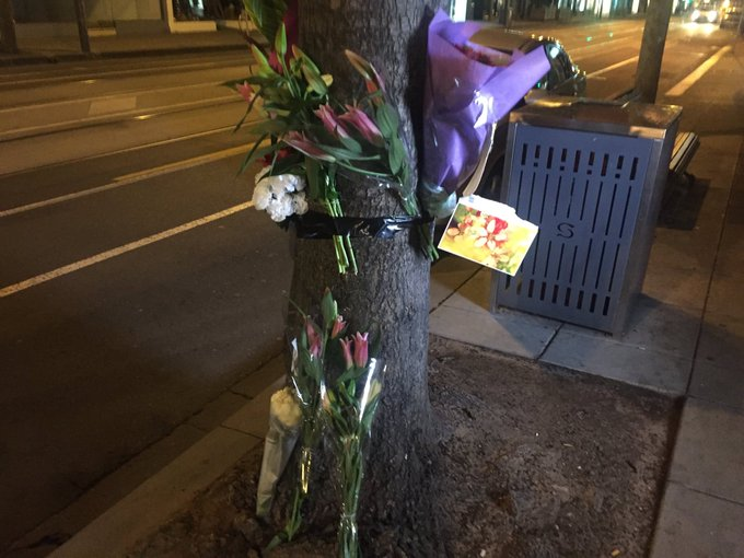 """Shrine for Dutch national killed on Chapel st grows. Messages include those from firefighters to the family """"we are so so sorry"""" @TheTodayShow Photo"""