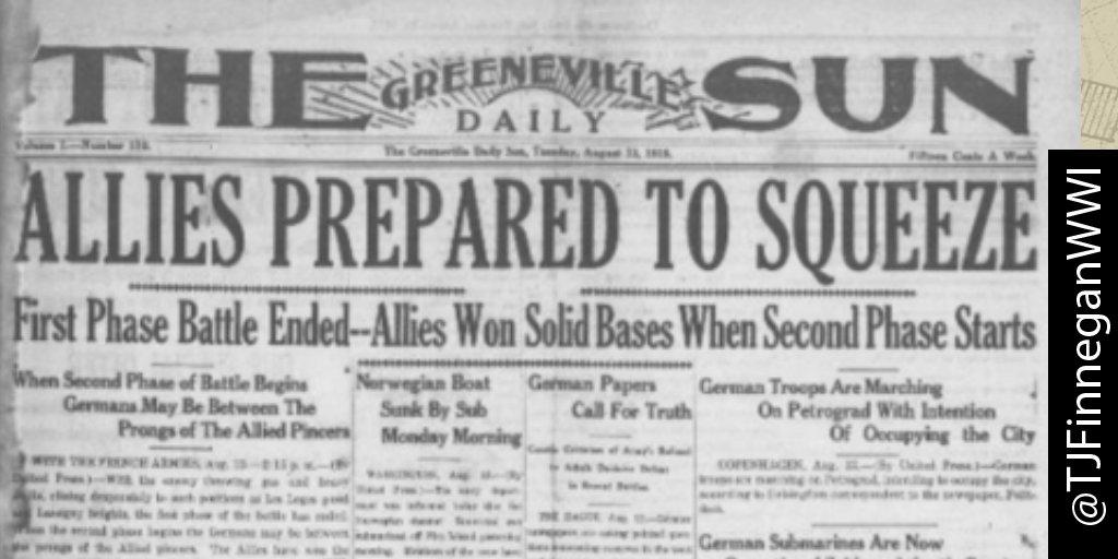 Allies prepared to squeeze.  http:// ow.ly/U4KL30cjc86  &nbsp;   #wwi #wwi100 #wwidaybyday #ww1<br>http://pic.twitter.com/JDBRnRFx8B