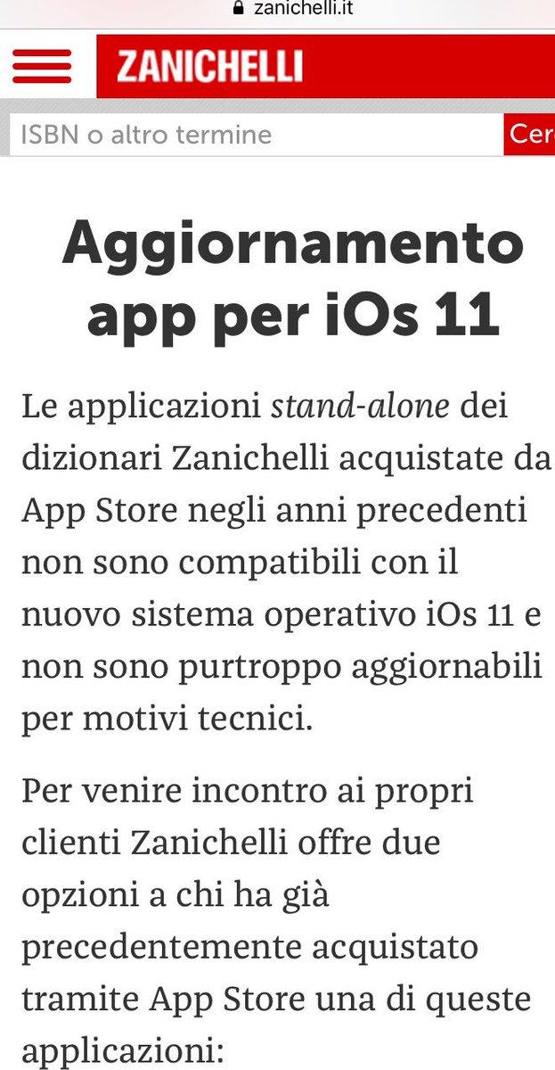 Ecco perché nel 2011 avrei dovuto comprare la app di @Zanichelli_ed e non il dizionario #devoto-#oli di @MondadoriStore , il cui servizio clienti manco ti risponde... #ios11 #stile  - Ukustom