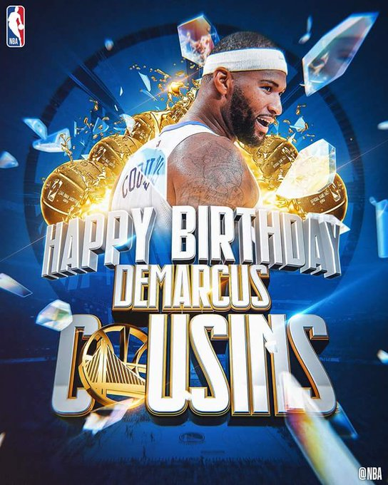 Join us in wishing DeMarcus Cousins of the Golden State Warriors a HAPPY 28th BIRTHDAY!