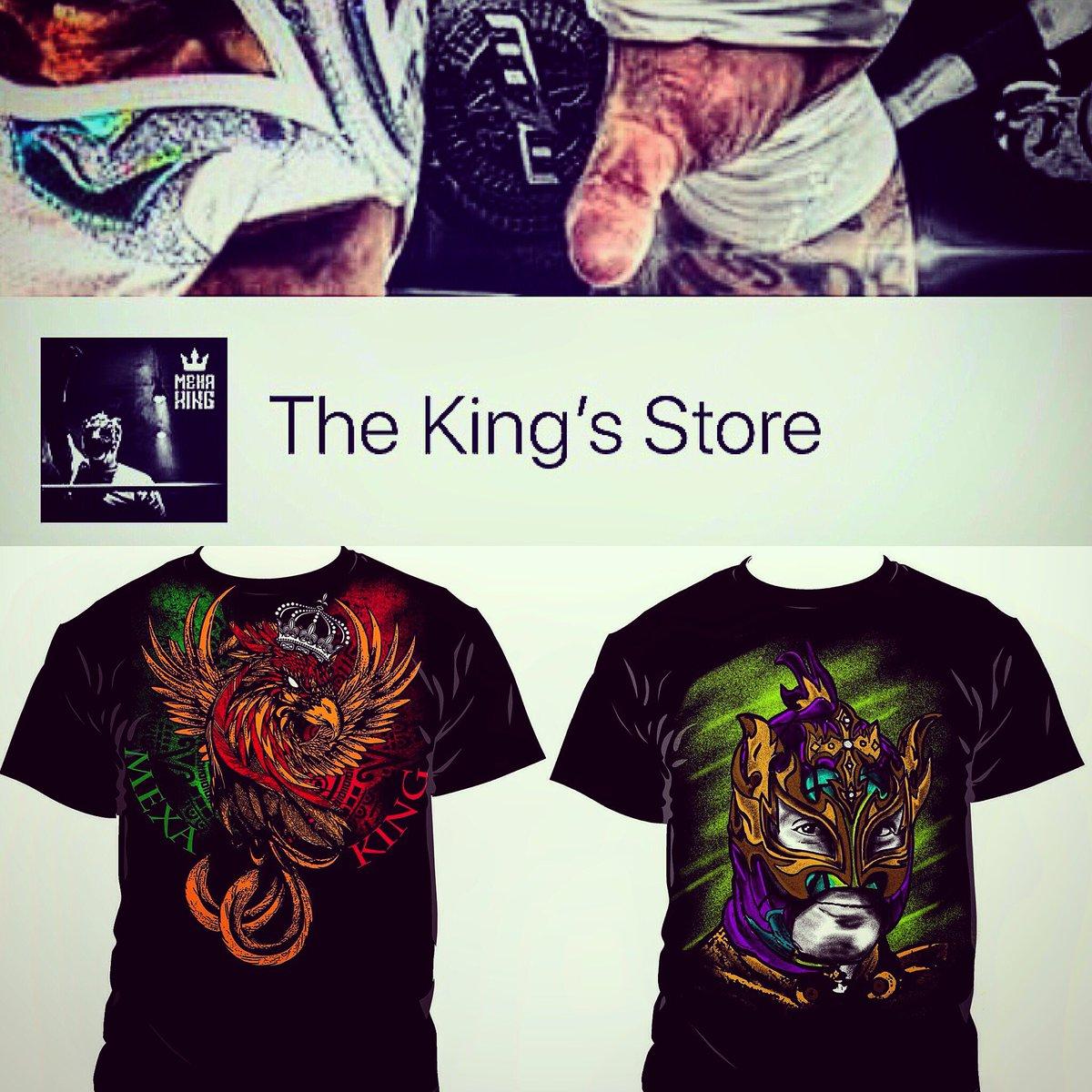 Busca la página oficial #TheKing'sStore dale Like 👍🏻 y comparte. Hemos presentado estos 2 diseños #MexaKing01 #TheKing90 Está al pendiente de la página, pronto iniciamos la venta de productos. m.facebook.com/The-Kings-Stor…