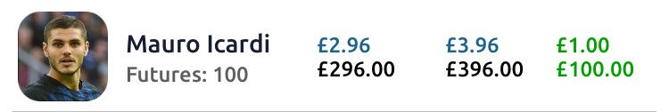 The latest member of my £1 increase club on #footballindex is Mauro #icardi #gaintrain <br>http://pic.twitter.com/R7jQjd9A9l