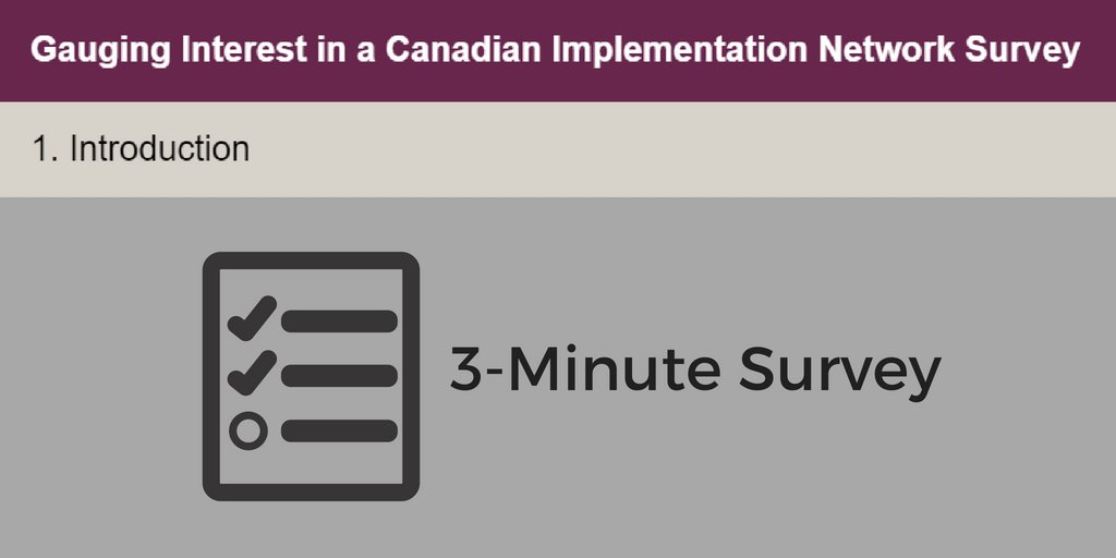 Interested in #KnowledgeMobilization? Please share widely!   A #KMb network under development is looking to gauge interest in a Canadian Implementation Network! Learn more abt getting involved + take this 3-min survey to share your opinion!  http:// bit.ly/2KL0oOb  &nbsp;  <br>http://pic.twitter.com/5CtVzF5zTz