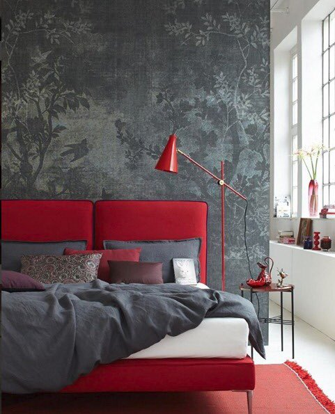 Elegance in grey and red Collection: Midsummer Night design: Lorenzo de Grandis #wallanddeco #wallpaper #papelpintado #wallcovering #design #decor  #interiordesign #homedecoration #home #contemporary #contemporarywallpaper #grey #imiresource #imodernillc #letusbeyourresource<br>http://pic.twitter.com/VBNS5k60oD