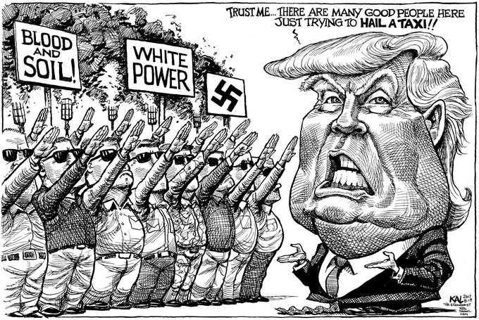A cartoon from last year about Charlottesville @TheEconomist #Charlottesville #Charlottesvillelockdown Foto