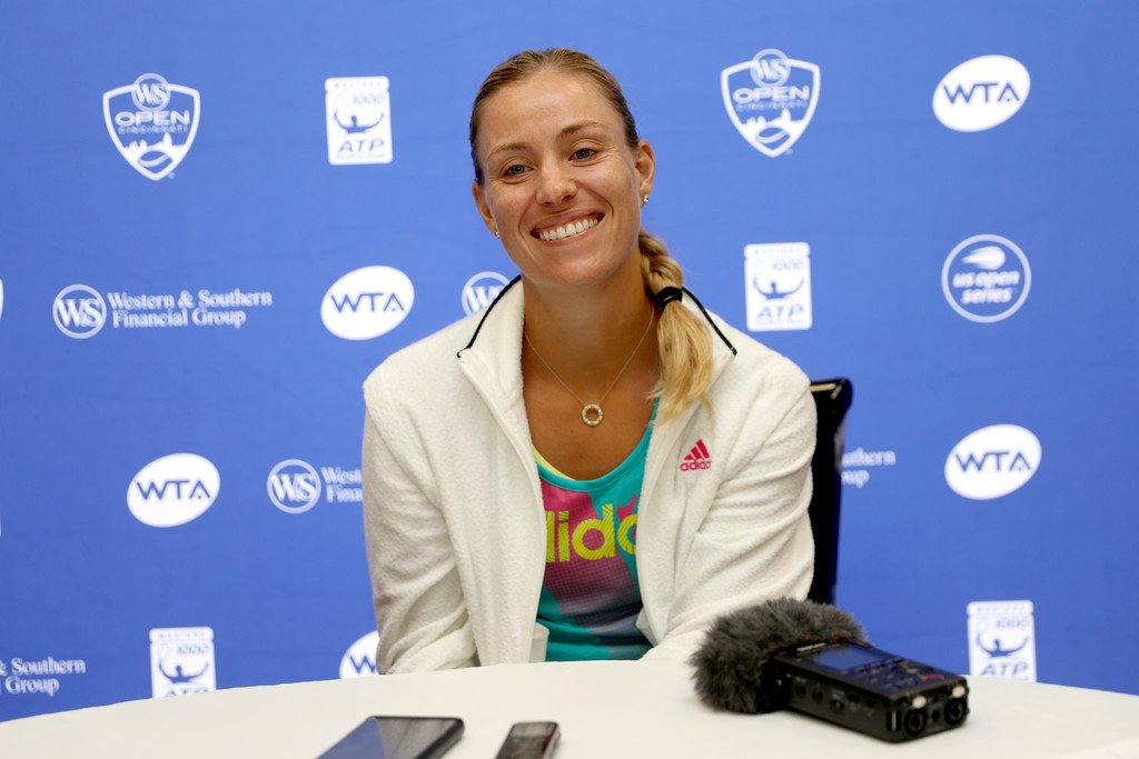 . @AngeliqueKerber at @CincyTennis media day today  #TeamAngie (Getty)<br>http://pic.twitter.com/SmPu33ILoM