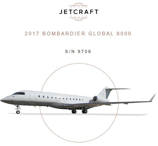 2017 #Bombardier #Global6000 for sale through @JetcraftCorp  250 hrs and 207 landings Enrolled on RRCC and MSP Link 2000+ with ADS-B Out Learn more info at  http:// ow.ly/5iJH30lo53r  &nbsp;    #bizjet #bizav #aircraftforsale #privateaviation #privatejet #privateflying #jetforsale<br>http://pic.twitter.com/AZfbVXqaaP