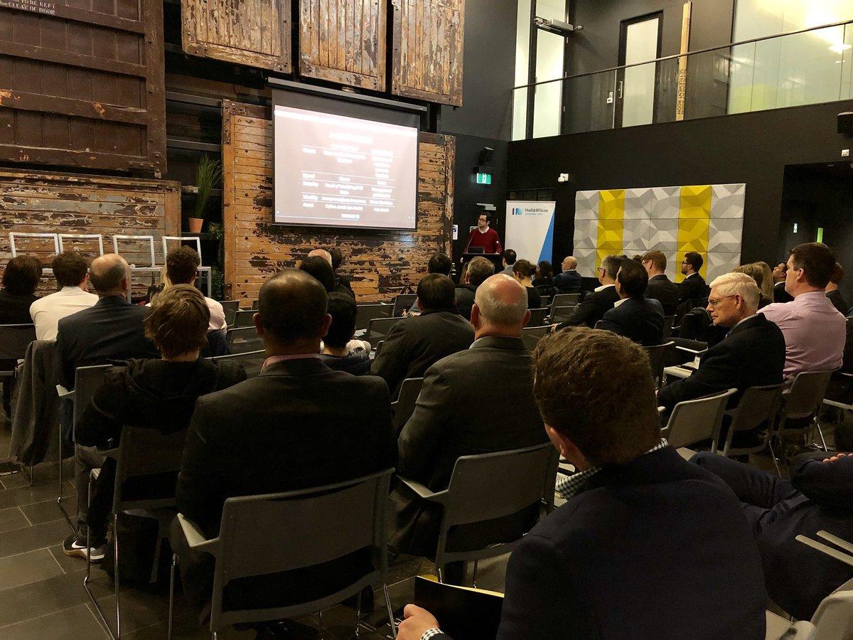 @alantsen shares on blockchain at the Hall & Wilcox 'demystifying blockchain' breakfast event at Stone & Chalk  #blockchain - 6 years ago, no one heard of bitcoin, now everyone has heard about it. @stoneandchalk @HallandWilcox