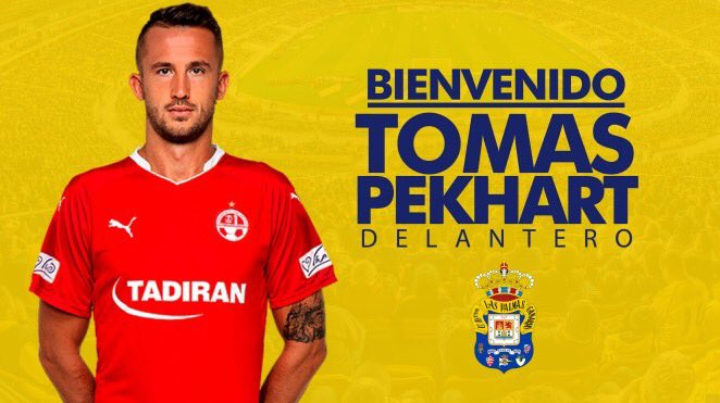 Tomás Pekhart, nuevo jugador de la UD Las Palmas. bit.ly/2vFc54o