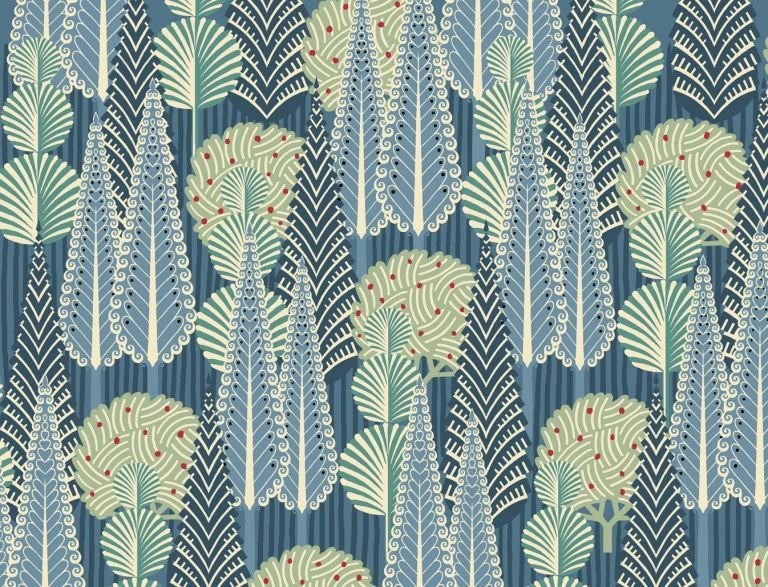 Fabric design by Cressida Bell, English artist and designer, specializing in textiles and interior design, who is the granddaughter of artist Vanessa Bell and great niece of Virginia Woolf #womensart<br>http://pic.twitter.com/ByoEdgdufH