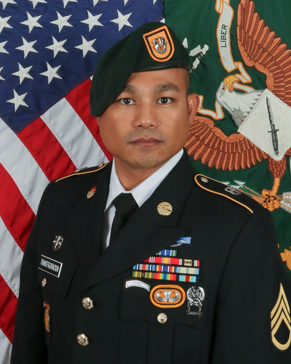 DOD: SFC Reymund Transfiguracion, 36, of Waikoloa, Hawaii, died August 12, 2018 from wounds sustained as a result of an IED in Helmand Province. Born in Sarrat Ilocos Norte, Philippines, Transfiguracion enlisted in the Hawaii National Guard in July 2001.