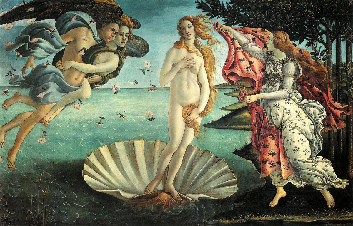 Botticelli, &quot;The Birth of Venus&quot; Shocking Blue, &quot;Venus&quot;  https:// youtu.be/aPEhQugz-Ew  &nbsp;  <br>http://pic.twitter.com/7DsfG5MAAb