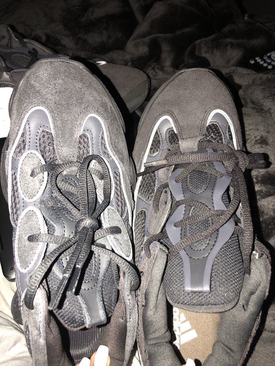 best cheap 5c65d e7efa Real vs Fake. Yeezy 500 ! Don't let these hustlers fool ya ...