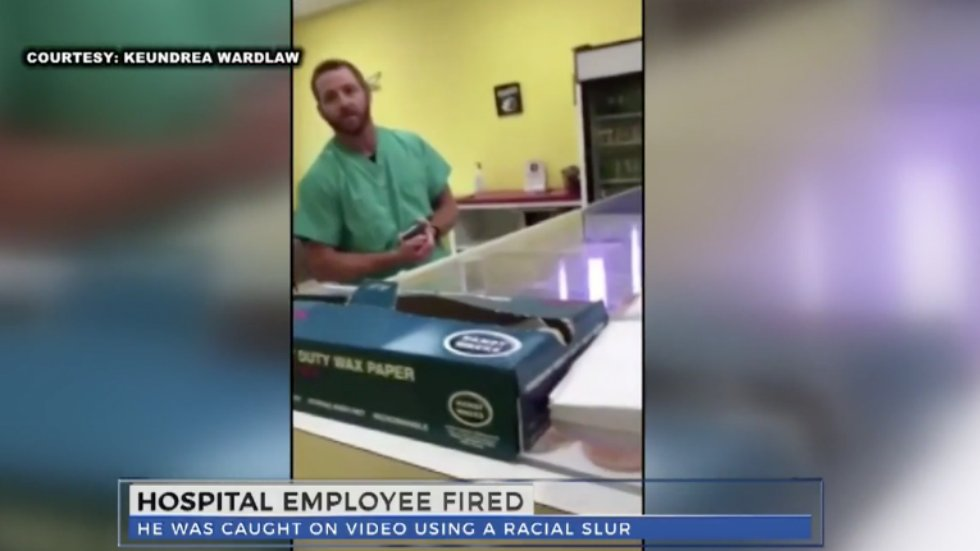 Hospital employee fired after viral video shows him yelling N-word at woman in donut shop https://t.co/2RdUJJyWvs