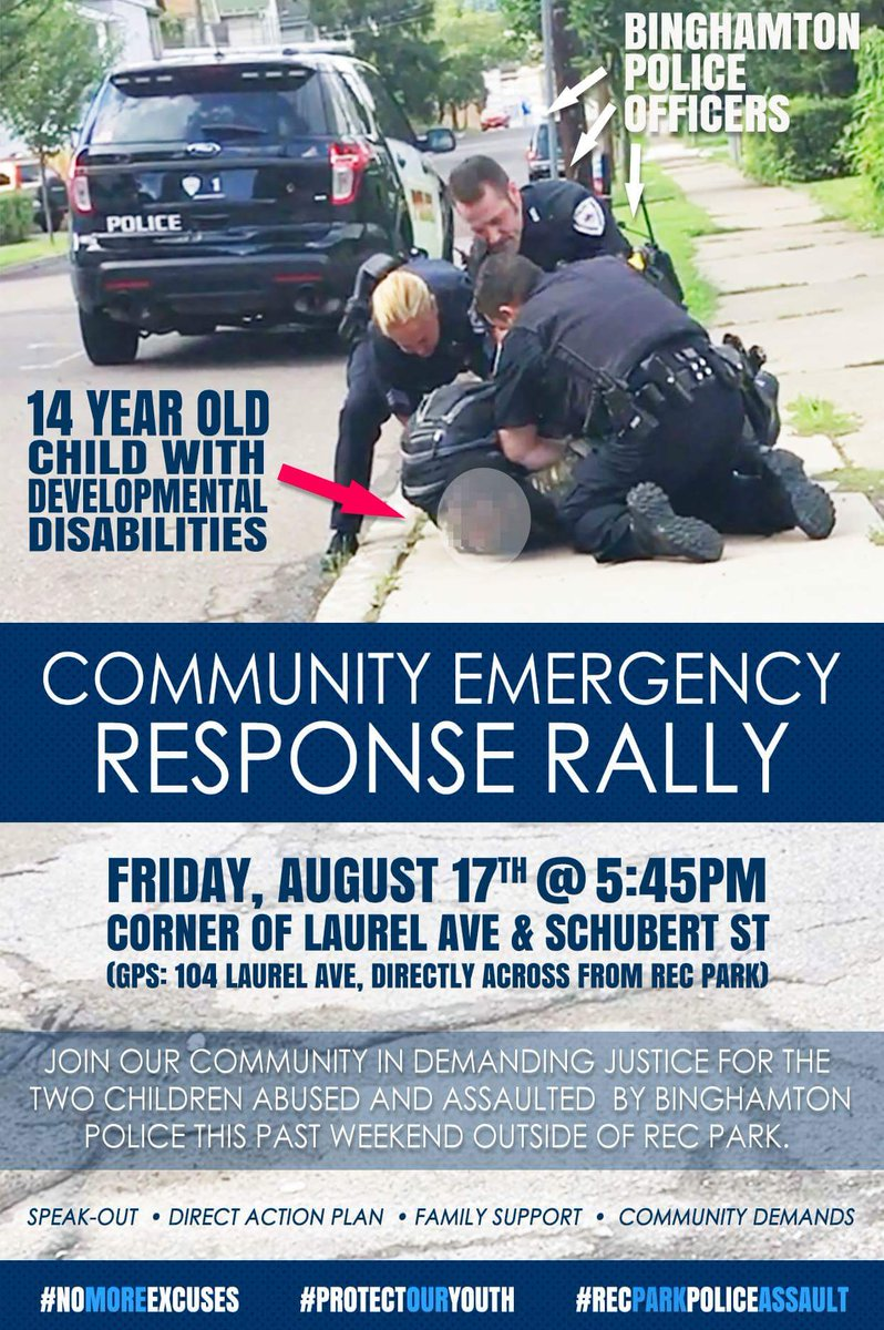 Join our community in demanding justice for these two children abused and assaulted by Binghamton Police.   https://www. facebook.com/events/2967998 27750508 &nbsp; …   #Binghamton #binghamtonuniversity #PLOTLife #BroomeCounty<br>http://pic.twitter.com/cJldHV43R4