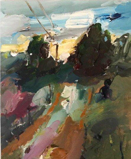 """Lincolnton Dusk"", 14X18cm, watercolour on card. #painting #artgallery #watercolour #artoftheday<br>http://pic.twitter.com/Tma5t1cxqS"