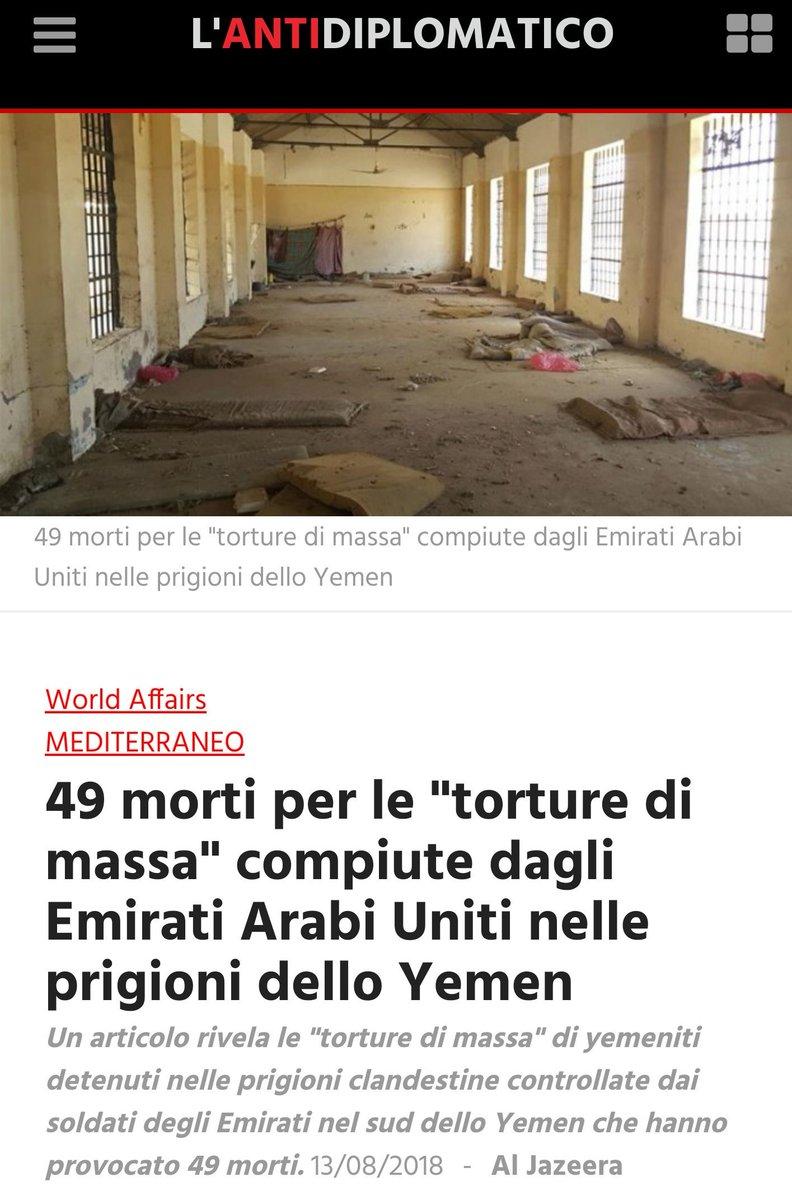 #Yemen49 morti per le torture inflitte da un alleato caro all\