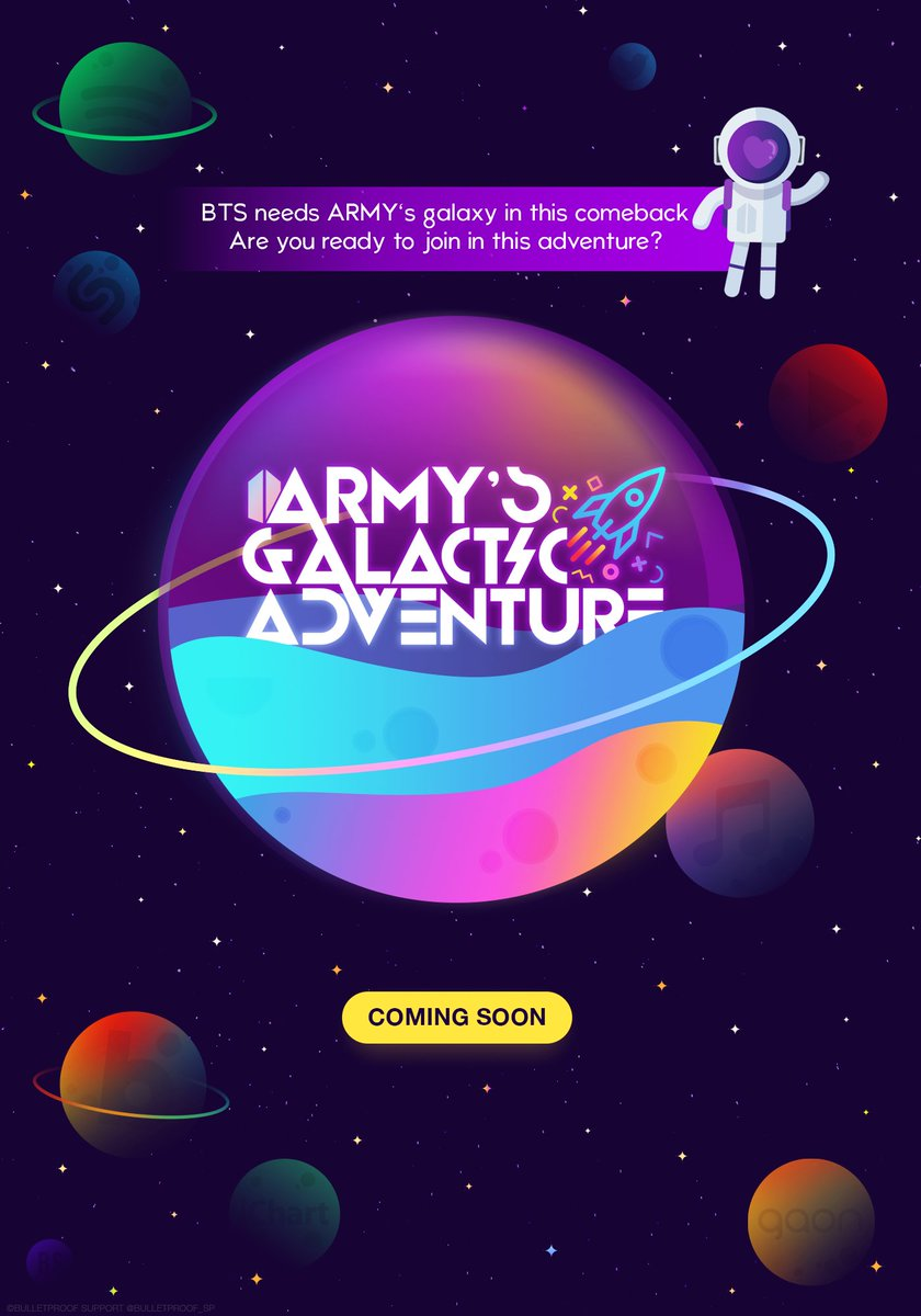 ARMY&#39;s Galactic Adventure:  BTS (@BTS_twt) will be in need of our strong galaxy this comeback, are you prepared to join the adventure?  Coming Soon.   #ARMYsGalacticAdventure <br>http://pic.twitter.com/Rc4S3SxPKr