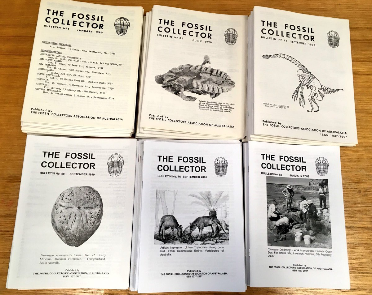 We&#39;re very excited to announce that The Fossil Collectors&#39; Association of Australasia had joined @bhl_au &amp; that their journal &quot;The Fossil Collectors Bulletin&quot; will soon be freely accessible online @BioDivLibrary. #OpenAccess #Fossils #Palaeontology<br>http://pic.twitter.com/WMdolEea9v