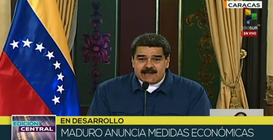 #Live | President @NicolasMaduro announces economic measures.