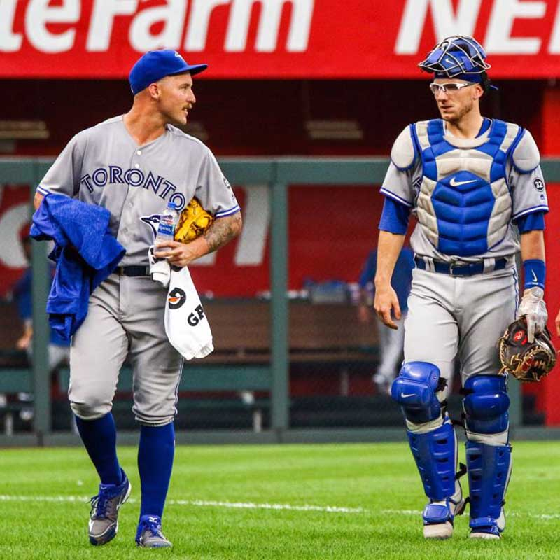 0a9d6cfa18be2 Tonight marks the 1st time in  BlueJays HISTORY that a set of battery mates  made their  MLB debuts together. The last time that happened in the AL