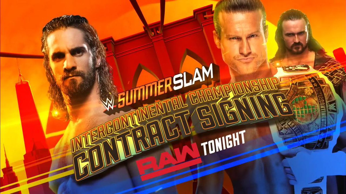 TONIGHT: @WWERollins and @HEELZiggler will sign the contract for their #ICTitle showdown at #SummerSlam! #RAW