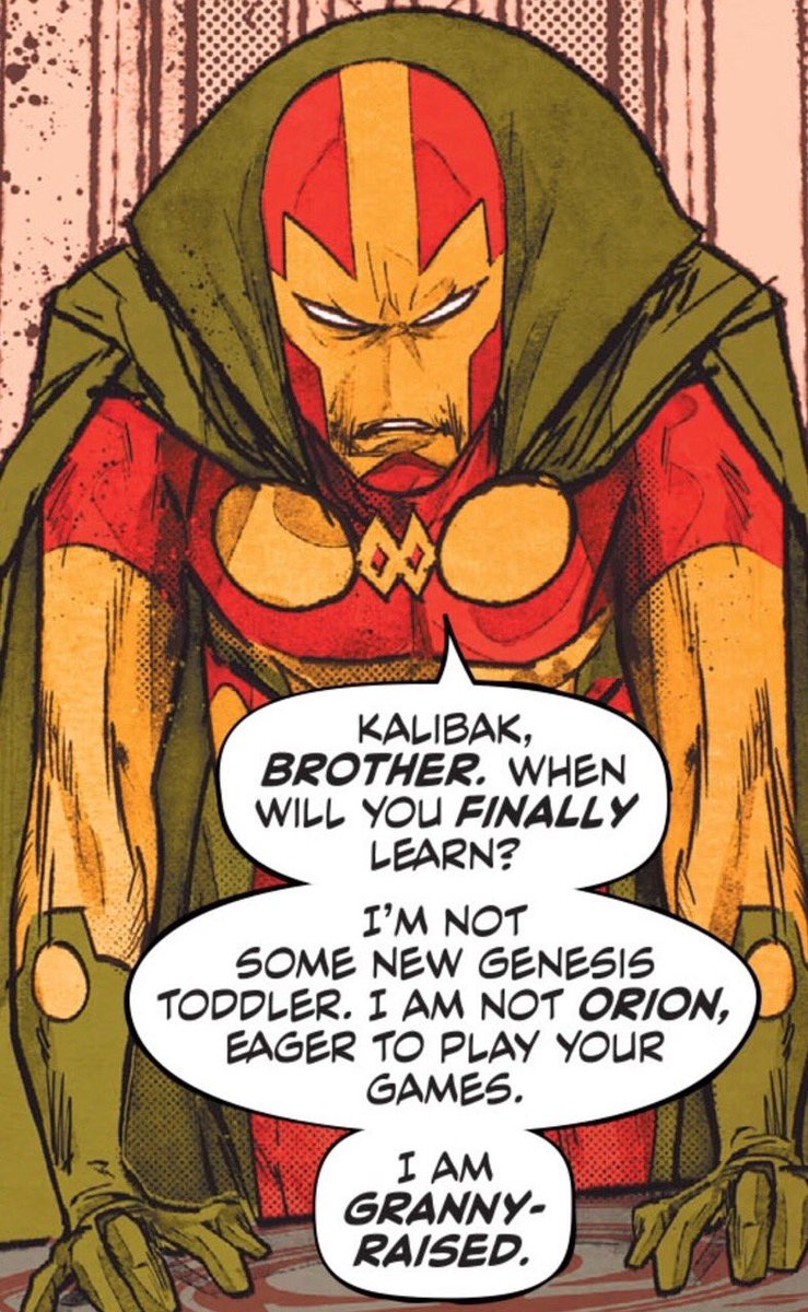 """""""I am Granny Raised""""  Mister Miracle ain't playin' games!   #DC #MondayMotivation #DoYouEvenComicBook<br>http://pic.twitter.com/xswYavlIap"""
