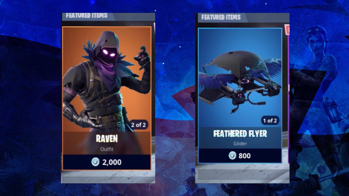 RAVEN BUNDLE GIVEAWAY!  Raven + Feathered Flyer! (2800 VB)  To Win: 1) RETWEET  2) Subscribe to my Youtube:  http:// bit.ly/2vGALcz  &nbsp;   (Will Check!!)   WINNER ANNOUNCED TOMORROW AT 5PM EST!  #Fortnite ⁠ ⁠   #FortniteBR #FortniteClips ⁠ ⁠ <br>http://pic.twitter.com/YyIS6eu2XE
