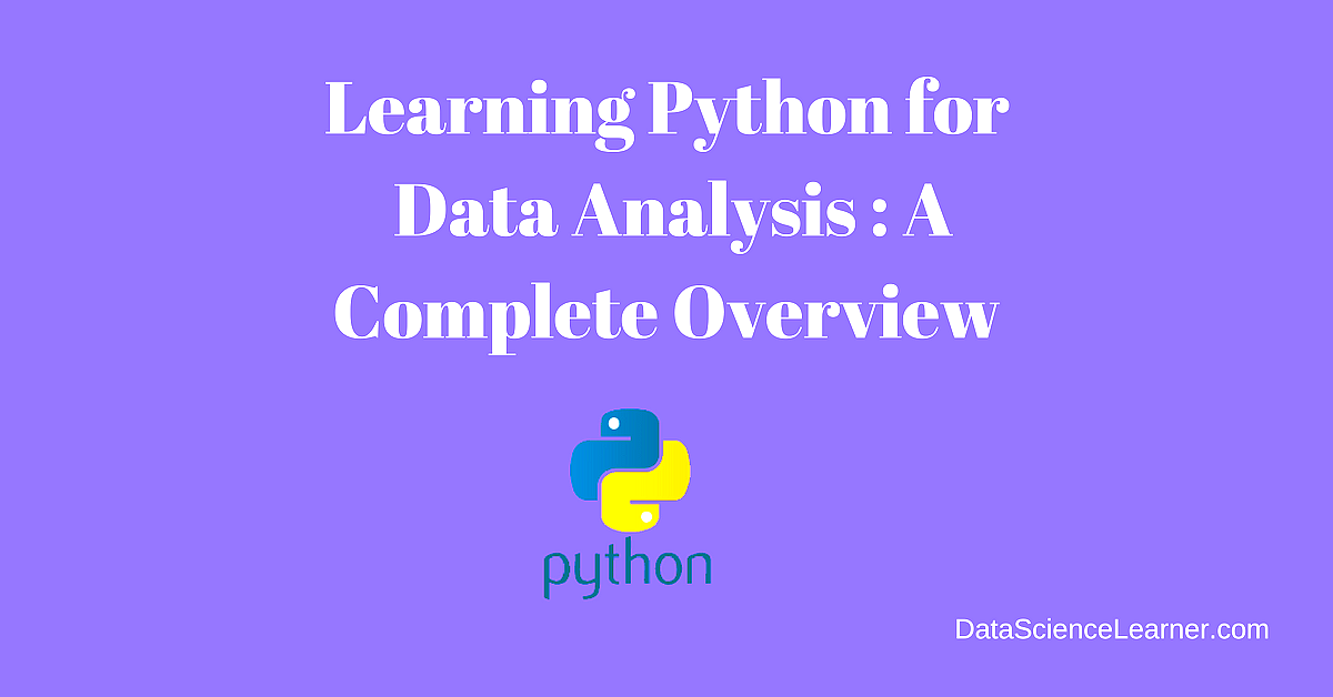 #Python for Data Analysis Tutorial : A Complete Overview   https:// buff.ly/2mYPLxM  &nbsp;   v/ @DataScienceL #DataScience #BigData #MachineLearning #AI  Cc @KirkDBorne  @JimMarous  @evankirstel  @DiegoKuonen  @ahier  @DeepLearn007  @schmarzo  @dez_blanchfield<br>http://pic.twitter.com/CRIGgHX0DP