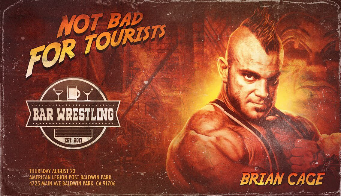 Thursday, August 23rd in the Los Angeles area!  #BarWrestling 17: Not Bad For Tourists featuring Brian Cage, Ethan Page, Flip Gordon, James Ellsworth + More!  • $25 presale + first entry tickets at  http:// m.bpt.me/profile/2733662  &nbsp;      • $40 standby walk-up tickets sold at door.<br>http://pic.twitter.com/aKmAOCFv8o