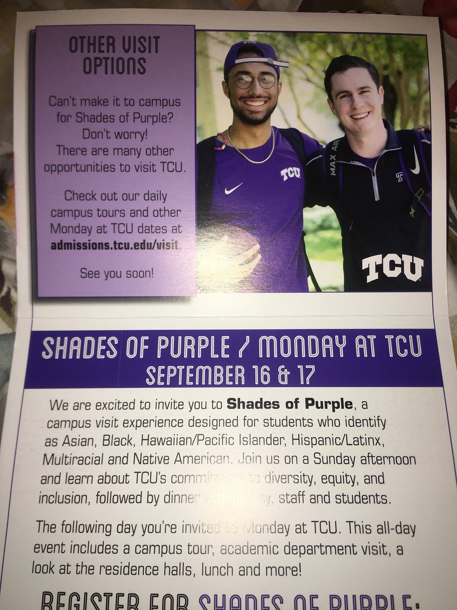 People used to tell me I would be on TCU's diversity advertisements. I used to laugh at them, but it looks like the joke's on me <br>http://pic.twitter.com/o5mpDiG3M5