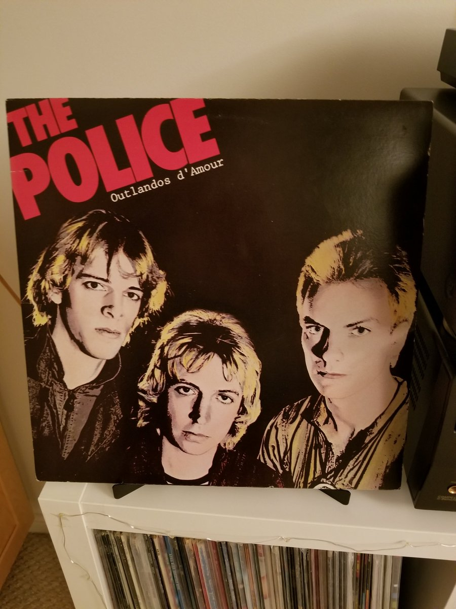 Day 121 tweeting #MyRecordCollection is The Police&#39;s classic Outlandos D&#39;Amour. I discovered this album after Synochronicity led me to their earlier releases. Some of my favourite Police tracks including So Lonely Can&#39;t Stand Losing You and Roxanne. #ClassicRock #vinylrecords <br>http://pic.twitter.com/tJwLIrxMV4