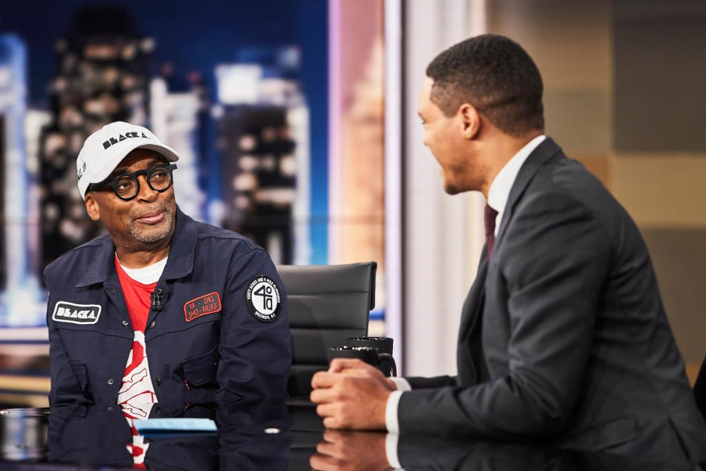 TONIGHT: Writer &amp; director Spike Lee is here to talk about his new movie @BlacKkKlansman!<br>http://pic.twitter.com/33GMBsTddc