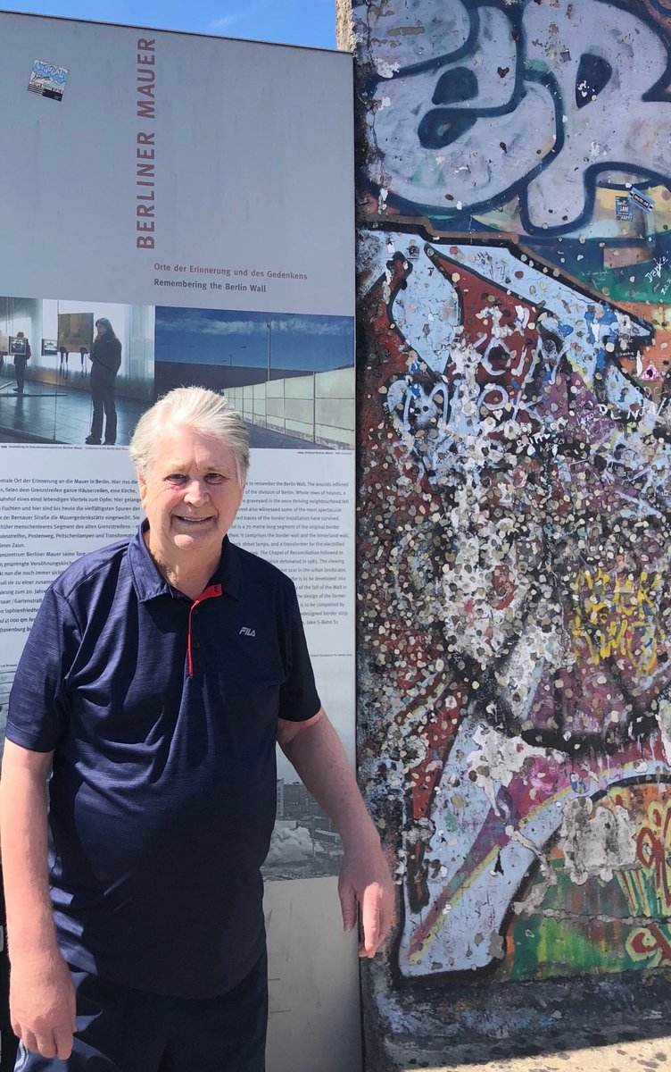 Brian's in Germany. At the Berlin Wall and the Holocaust Museum. <br>http://pic.twitter.com/49wdjbuufB