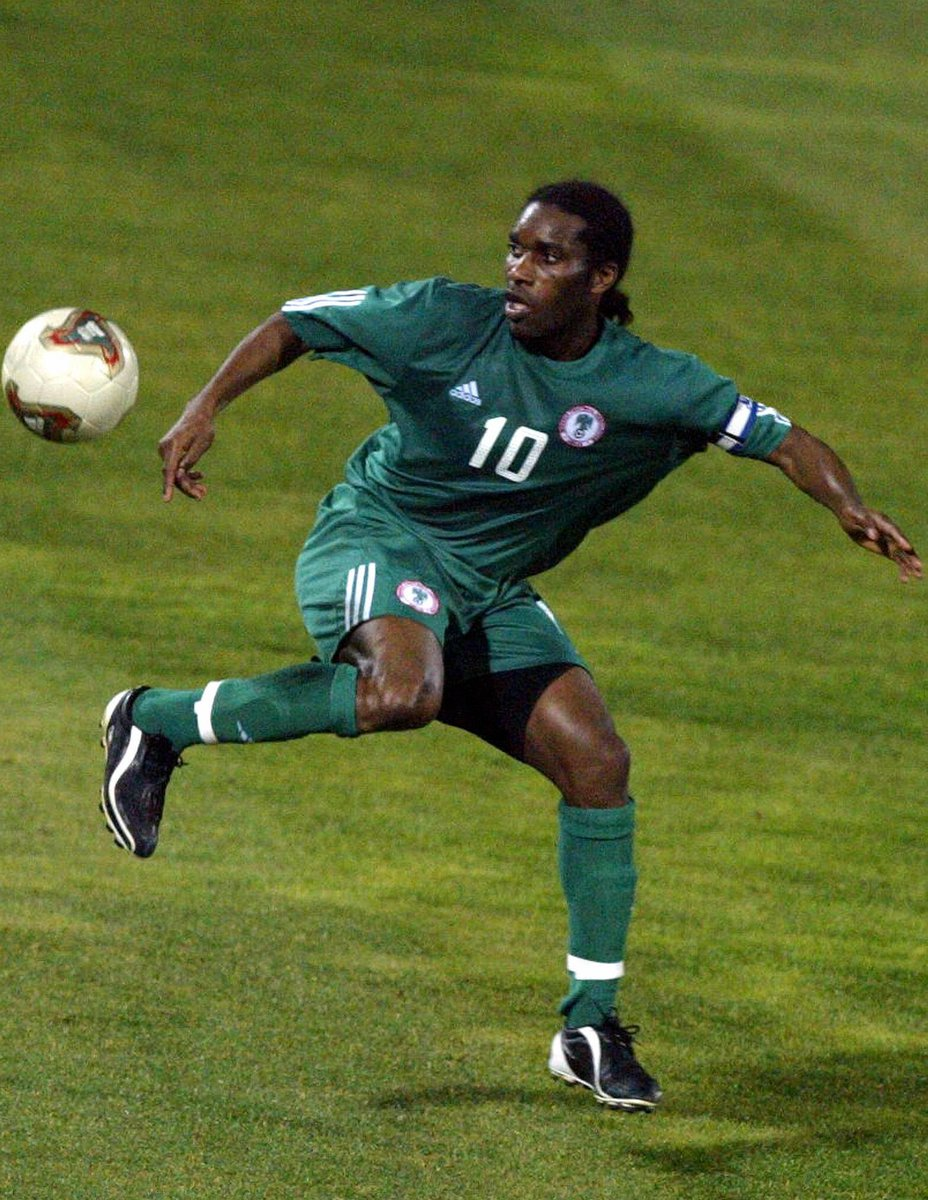 Happy birthday, Jay-Jay Okocha! 🇳🇬  Sinc @OptaJoee  collected data in 1966, no player has completed more take-ons in a single World Cup game: 15 vs. Italy in 1994.  ...they tweeted twice.