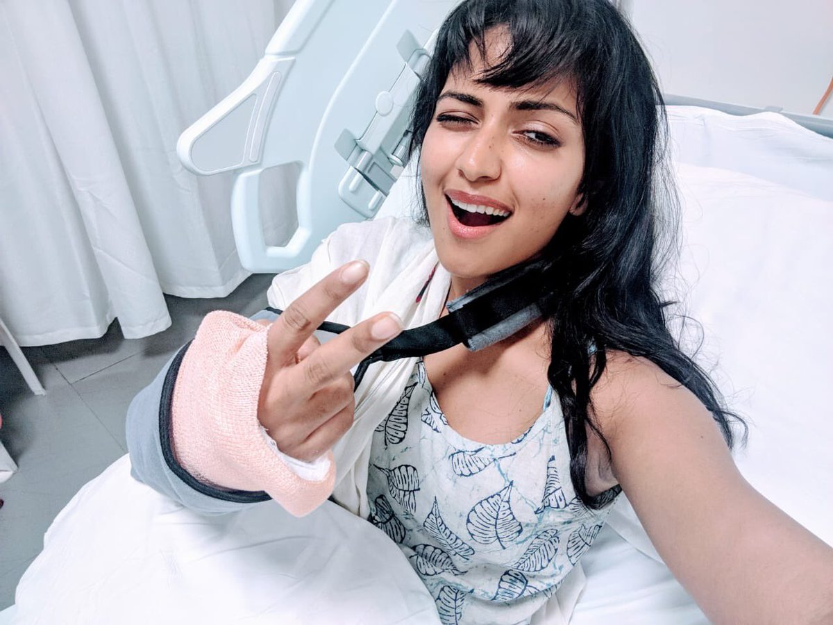 Amala Paul fractures her wrists again