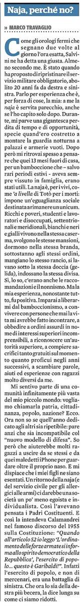 #Travaglio è ora favorevole alla #levaobbligatoria.      #gentiloni #salvini #dimaio #DecretoDignita #DecretoSicurezza #renzi #Aborto #spread  - Ukustom