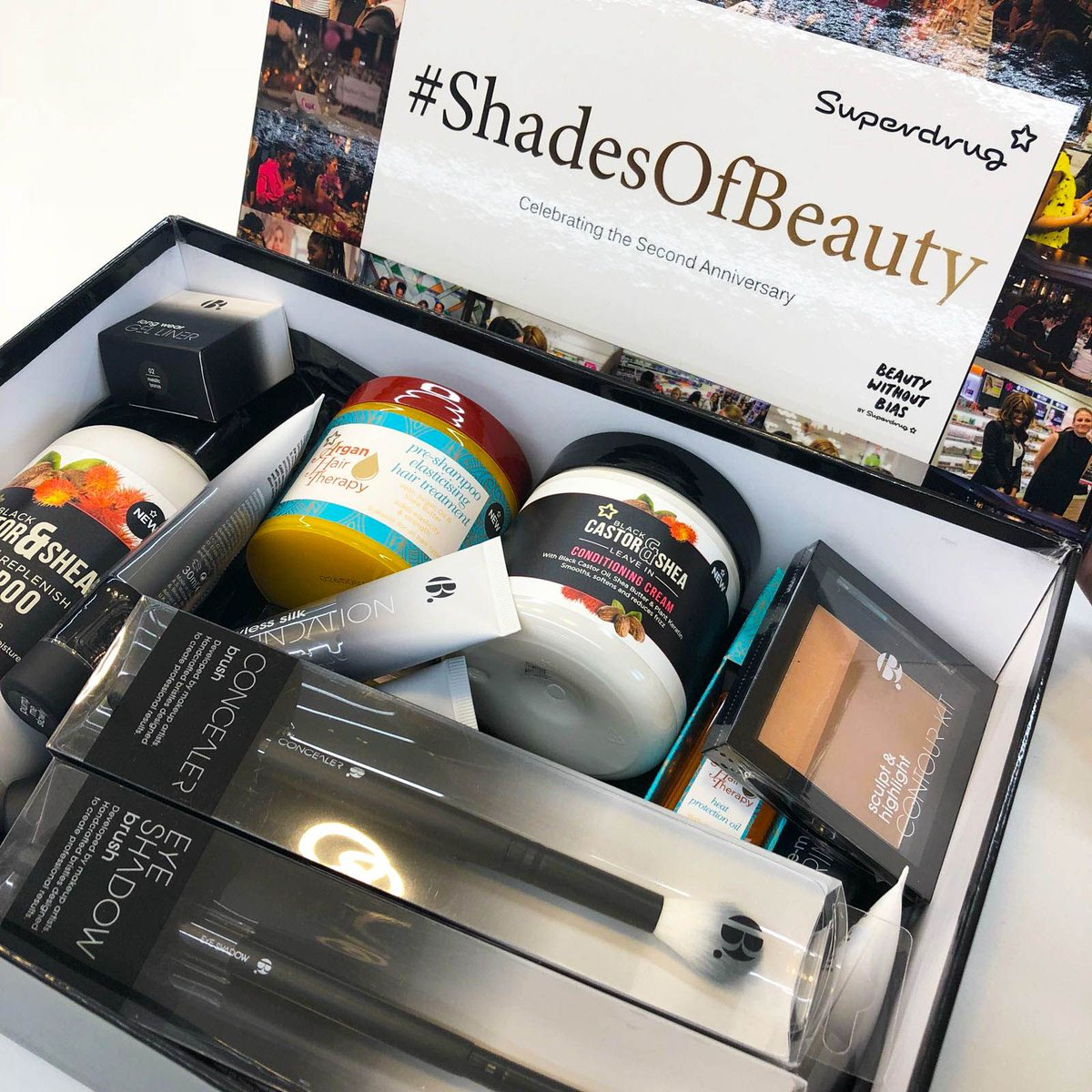 RT &amp; follow @superdrug 2 #WIN a Shades of Beauty Box filled with Own Brand &amp; @officialbbeauty goodies! Competition ends 23:59 14/08/18, T&amp;Cs apply please see bio <br>http://pic.twitter.com/HFKQNzQVAG
