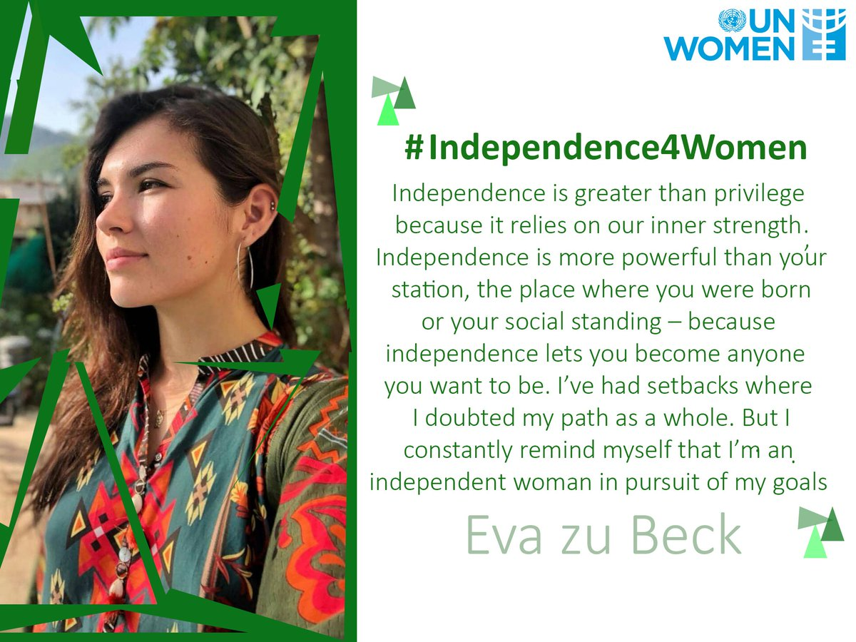 #Independence4Women Eva zu Beck is a travel vlogger passionate about adventure and women empowerment. She is currently touring around Pakistan and spreading the message of love and peace through her vlogging.  More:  https:// bit.ly/2vGSpNC  &nbsp;  <br>http://pic.twitter.com/CFIsPxenRs