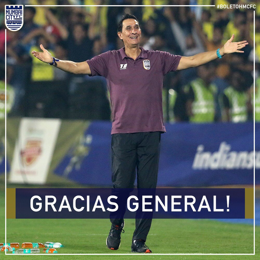 Mumbai City FC have today parted company with head coach @alexguimaborges by mutual consent. #TheIslanders would like to place on record their thanks and wish The General well for the future. #GraciasGeneral