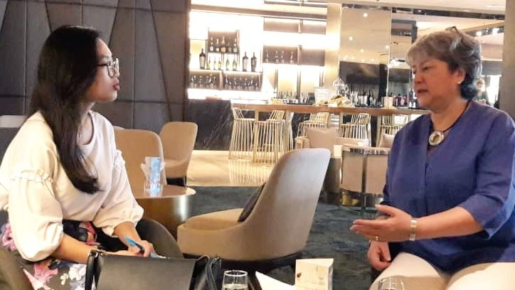 Day 2 - #Sabah Interview with Fiqah Roslan of the @theborneopost. Covered #UK #Malaysia bilateral relationship, #GE14, #Brexit, #trade, #Investment, #education, #GenderEquality &amp; #IWT ...a lot there!<br>http://pic.twitter.com/g5lkbnB5Rm