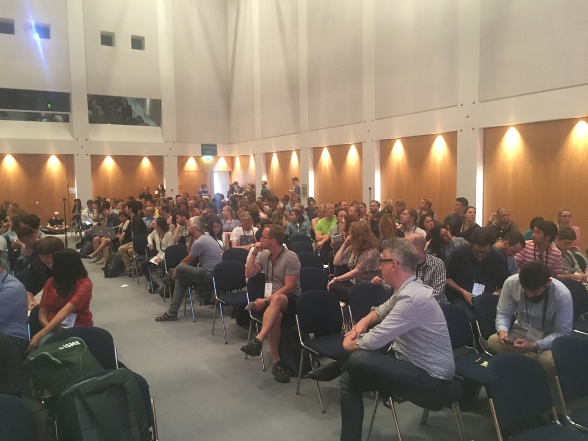Engaged discussions at our #ISME17 roundtable on big data integration in the era of quantitative microbial ecology with ⁦@laburich @microsyseco @jeroenraes⁩ ⁦@TheWrightonLab⁩ @emiliemuller01<br>http://pic.twitter.com/TtDmGWyNAs