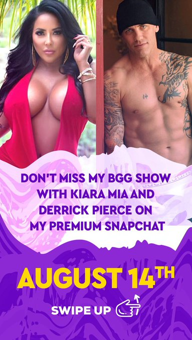 Don't miss my super hot 3some tom on my private SC w Kiaramia & Derek Pierce 😍👅💦🍆🐈 https://t.co/44H4