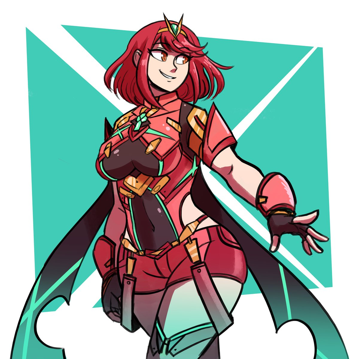 Took a while but here she is! Winner of the Fanart Friday poll on my Patreon is Pyra from Xenoblade Chronicles 2! She has...quite the design. <br>http://pic.twitter.com/0Nbzxg5awE