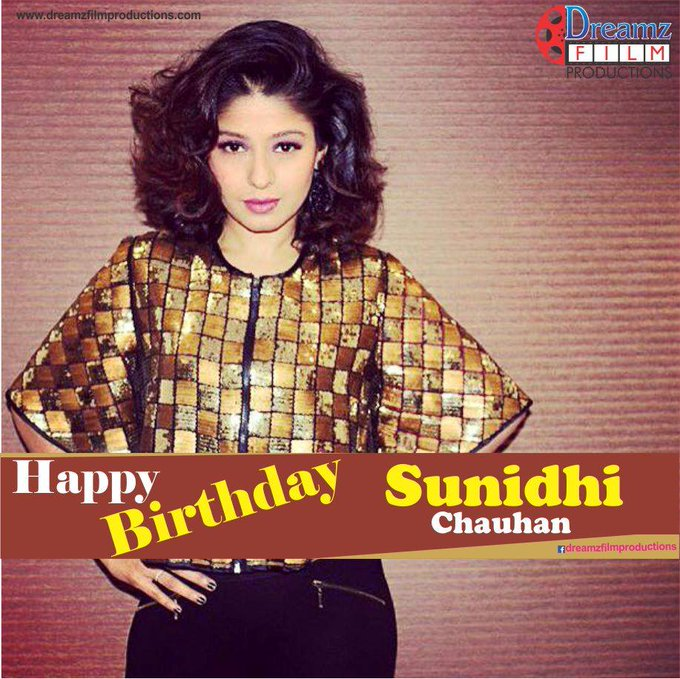 wishes a very  to Sunidhi Chauhan (Famous Indian Bollywood Singer)