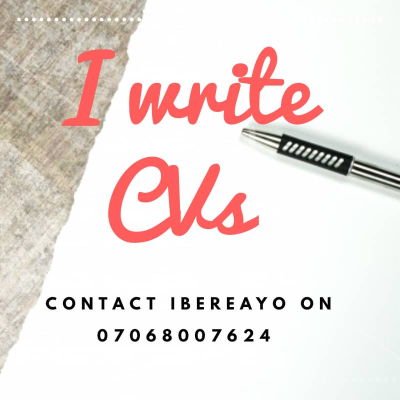 The value of your CV is determined by what is seen within the first 30 seconds of reading it.   For designing , writing, upgrading and reviewing CVs and Cover letters.   Contact @jibereayo for a professional touch on your CV and be sure to get the BEST .<br>http://pic.twitter.com/bOh2B0ov4q