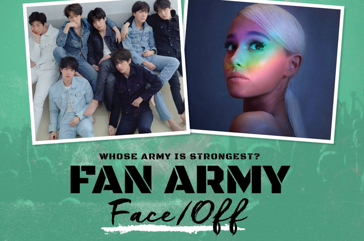 Fan Army Face-Off: BTS' A.R.M.Y vs. Ariana Grande's Arianators in Round 4 https://t.co/2HiV6A8BNm