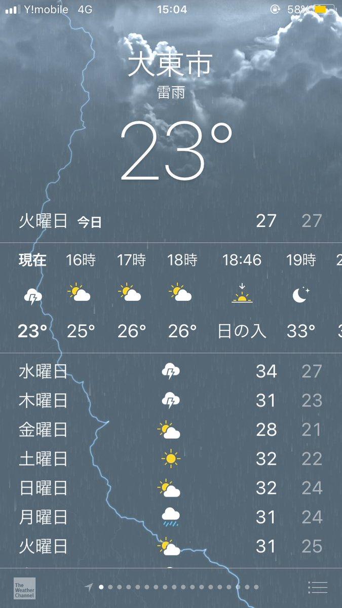 予報 大東 市 天気