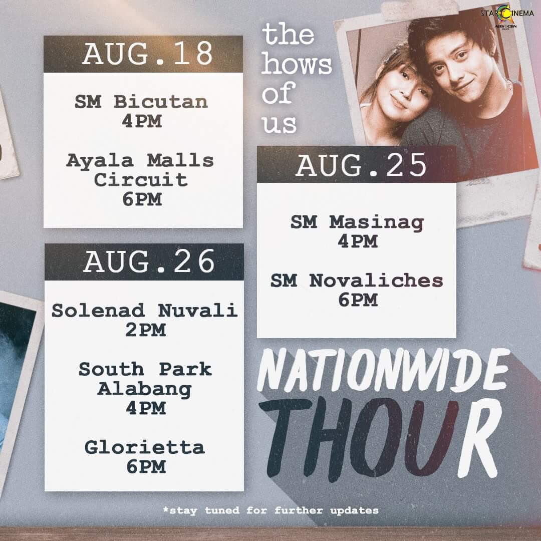 #TheHowsOfUs #NationwideTHOUr is coming to these malls!  See you there! <br>http://pic.twitter.com/BrENzNF0fk